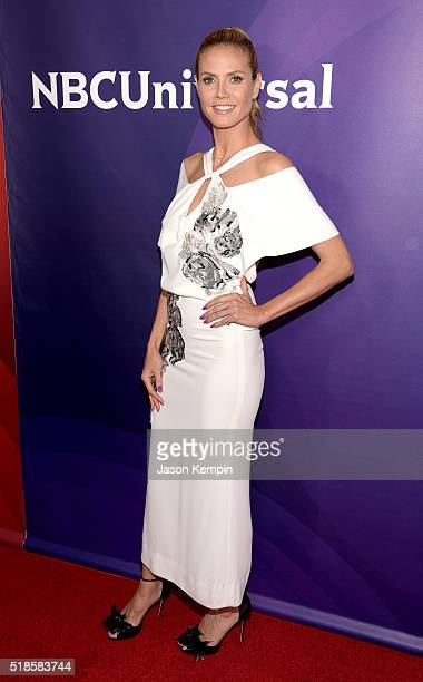 TV personality Heidi Klum attends the 2016 NBCUniversal Summer Press Day at Four Seasons Hotel Westlake Village on April 1 2016 in Westlake Village...
