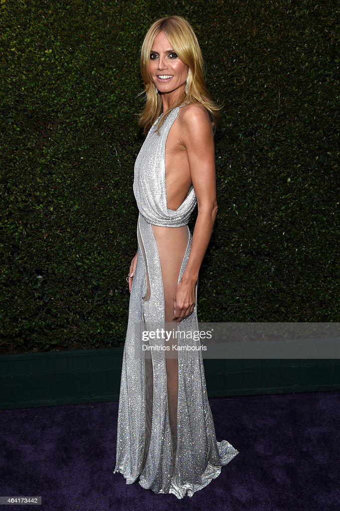 TV personality <a gi-track='captionPersonalityLinkClicked' href=/galleries/search?phrase=Heidi+Klum&family=editorial&specificpeople=178954 ng-click='$event.stopPropagation()'>Heidi Klum</a> attends the 23rd Annual Elton John AIDS Foundation Academy Awards Viewing Party on February 22, 2015 in Los Angeles, California.