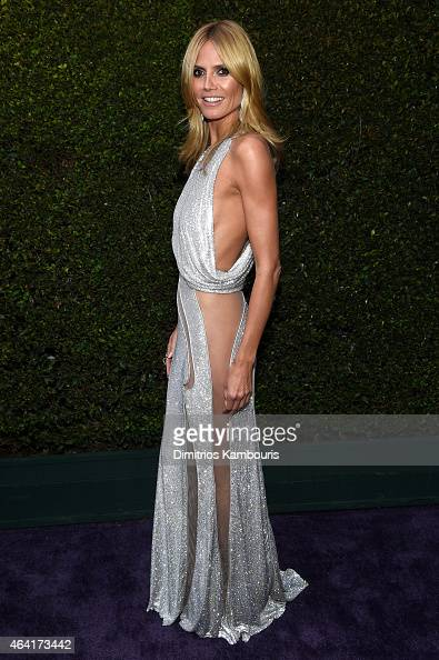 TV personality Heidi Klum attends the 23rd Annual Elton John AIDS Foundation Academy Awards Viewing Party on February 22 2015 in Los Angeles...
