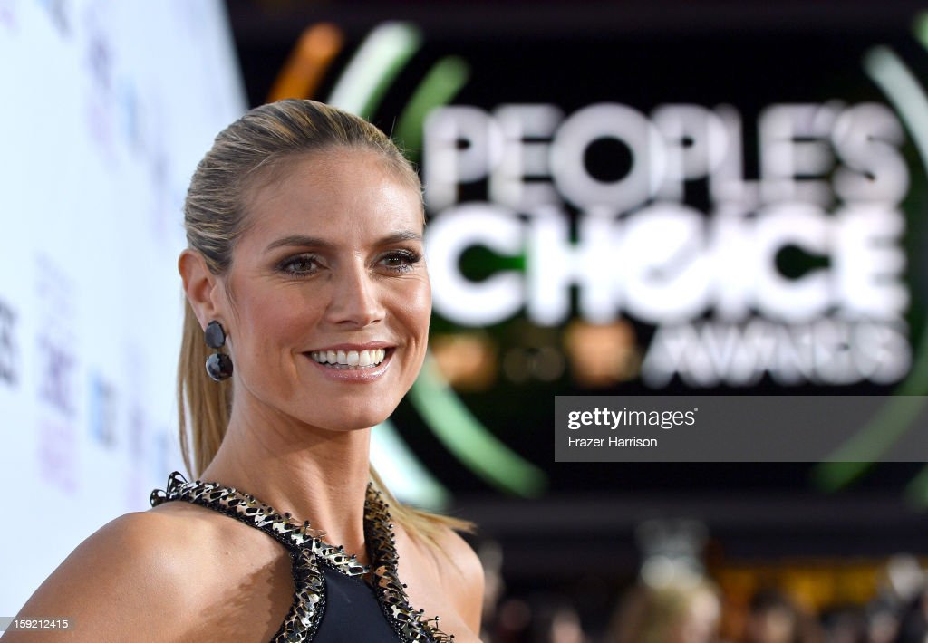 TV personality <a gi-track='captionPersonalityLinkClicked' href=/galleries/search?phrase=Heidi+Klum&family=editorial&specificpeople=178954 ng-click='$event.stopPropagation()'>Heidi Klum</a> attends the 39th Annual People's Choice Awards at Nokia Theatre L.A. Live on January 9, 2013 in Los Angeles, California.