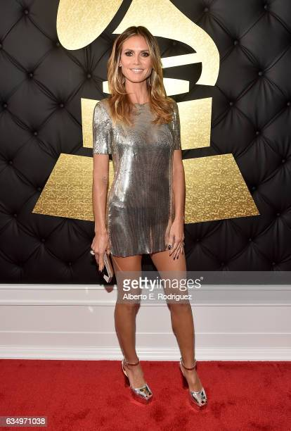Personality Heidi Klum attends The 59th GRAMMY Awards at STAPLES Center on February 12 2017 in Los Angeles California