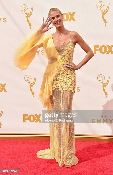TV personality Heidi Klum attends the 67th Emmy Awards at Microsoft Theater on September 20 2015 in Los Angeles California 25720_001