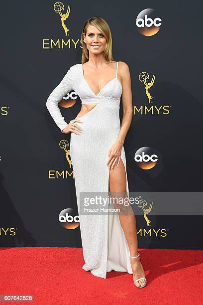 TV personality Heidi Klum attends the 68th Annual Primetime Emmy Awards at Microsoft Theater on September 18 2016 in Los Angeles California