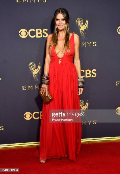 TV personality Heidi Klum attends the 69th Annual Primetime Emmy Awards at Microsoft Theater on September 17 2017 in Los Angeles California