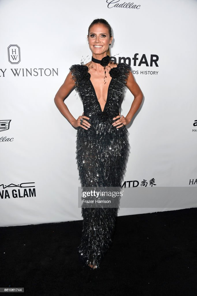 TV personality Heidi Klum attends the amfAR Gala at Ron Burkle's Green Acres Estate on October 13, 2017 in Beverly Hills, California.
