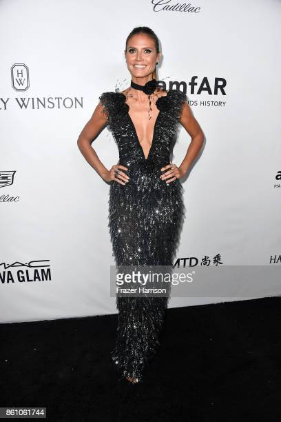 TV personality Heidi Klum attends the amfAR Gala at Ron Burkle's Green Acres Estate on October 13 2017 in Beverly Hills California