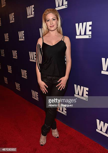 TV personality Heidi Montag attends the WE tv presents 'The Evolution of The Relationship Reality Show' at The Paley Center for Media on March 19...