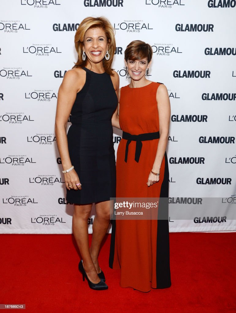 TV personality Hoda Kotb (L) and Glamour Editor-in-Chief Cindi Leive attend Glamour's 23rd annual Women of the Year awards on November 11, 2013 in New York City.