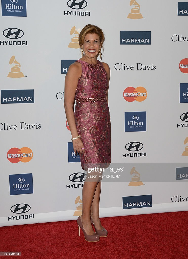 TV personality Hoda Kotb arrives at Clive Davis & The Recording Academy's 2013 Pre-GRAMMY Gala and Salute to Industry Icons honoring Antonio 'L.A.' Reid at The Beverly Hilton Hotel on February 9, 2013 in Beverly Hills, California.