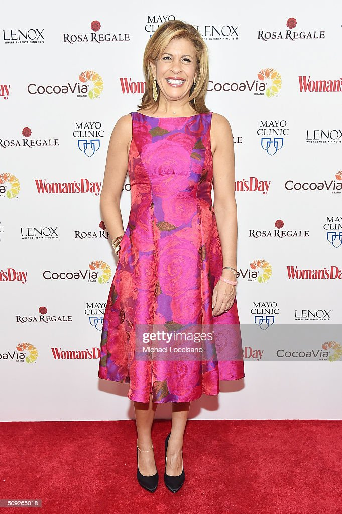 TV personality Hoda Kotb attends the 2016 Woman's Day Red Dress Awards on February 9 2016 in New York City