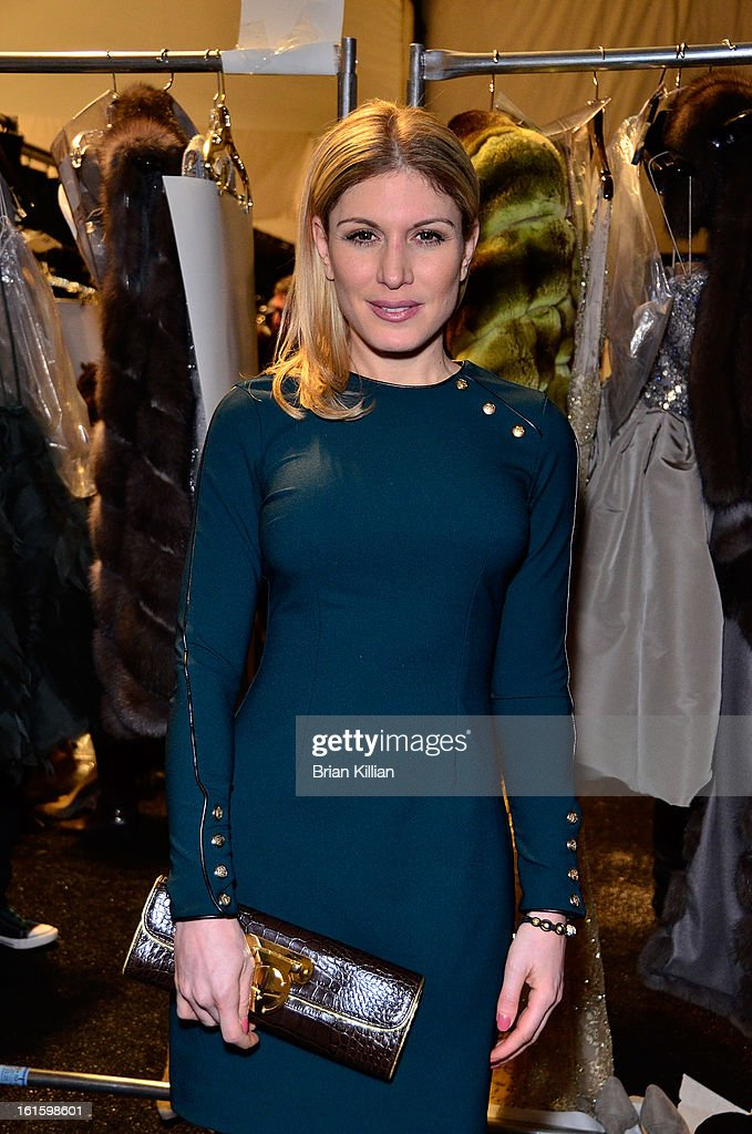 TV personality Hofit Golan attends Dennis Basso during Fall 2013 Mercedes-Benz Fashion Week at The Stage at Lincoln Center on February 12, 2013 in New York City.
