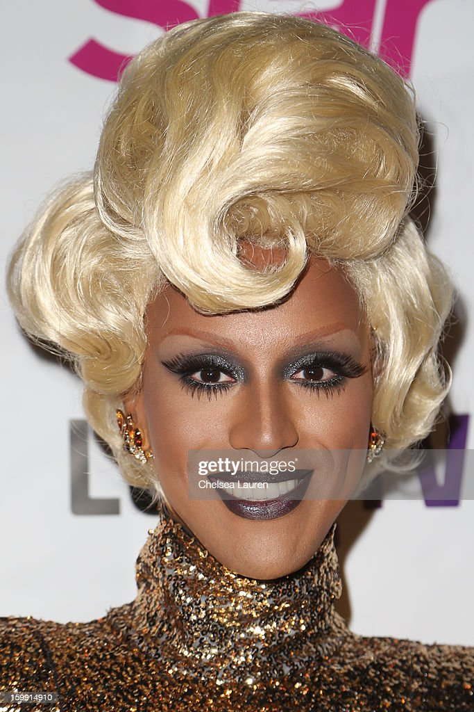 TV personality Honey Mahogany arrives at 'Rupaul's Drag Race' season 5 premiere party at The Abbey on January 22, 2013 in West Hollywood, California.