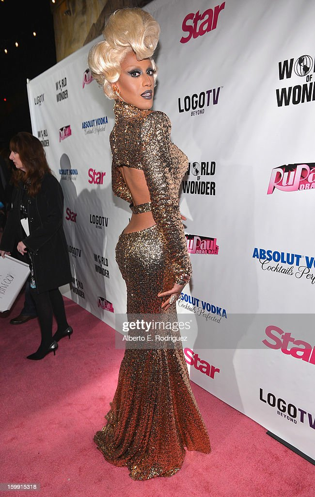 TV personality Honey Mahogany arrives to the premiere of 'RuPaul's Drag Race' Season 5 at The Abbey on January 22, 2013 in West Hollywood, California.