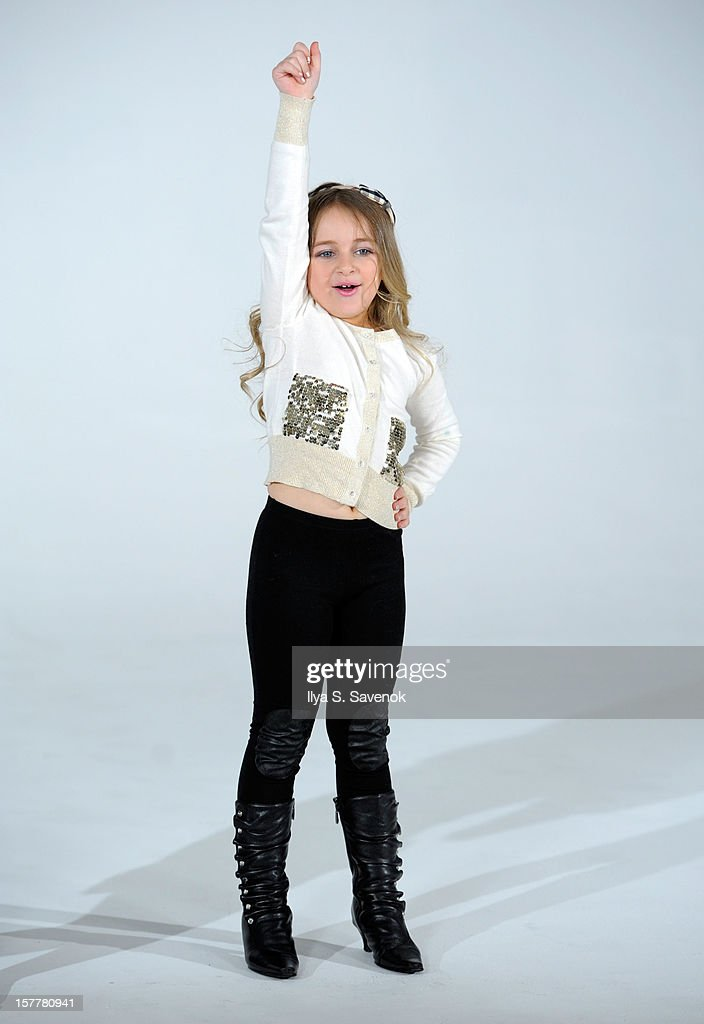 TV personality Isabella Barrett performs during Eden Wood and Isabella Barrett 'LOL' Music video shoot at Picture Ray Studios on December 6, 2012 in New York City.