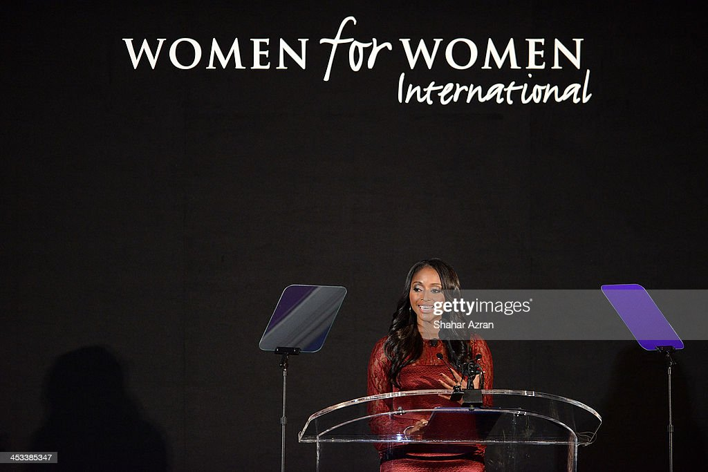 TV personality Isha Sesay onstage at the Women for Women 20th Anniversary Gala celebration at the American Museum of Natural History on December 3, 2013 in New York City.