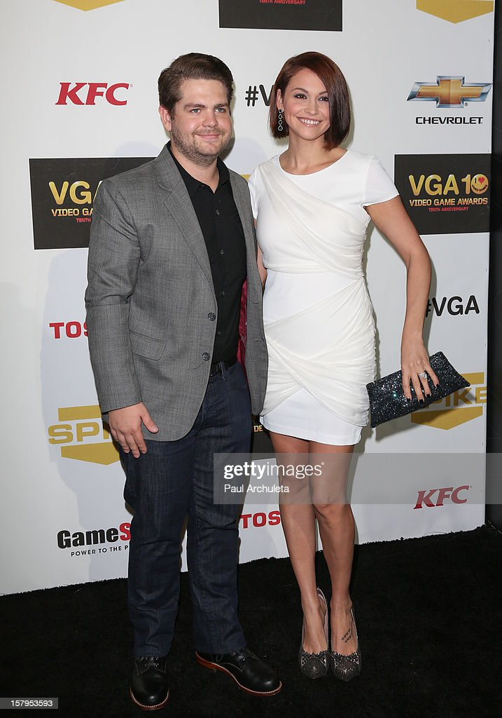 TV Personality Jack Osbourne (L) and his wife Lisa Stelly attend Spike TV's 10th Annual Video Game Awards at Sony Pictures Studios on December 7, 2012 in Culver City, California.