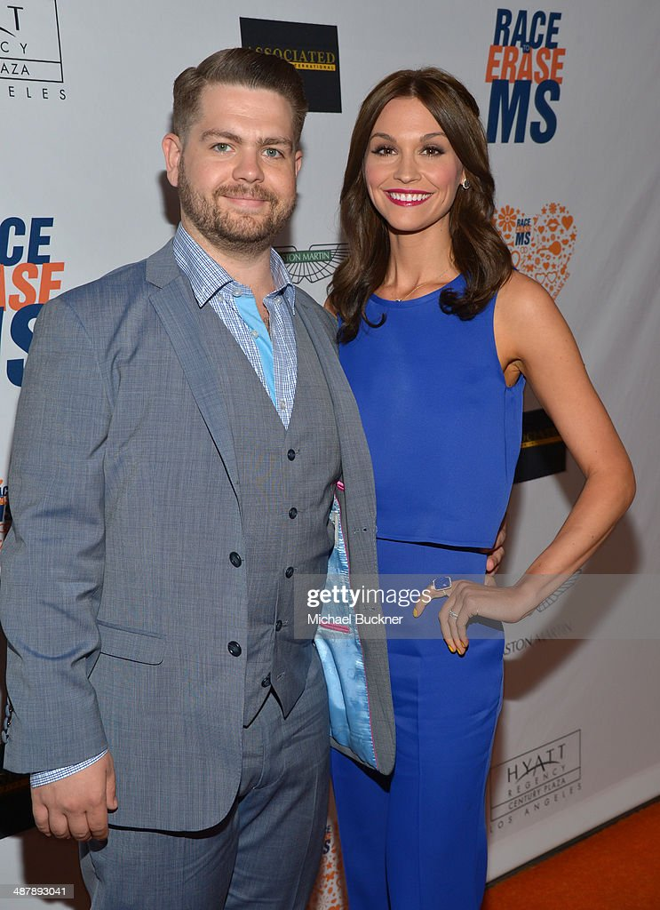 TV personality <a gi-track='captionPersonalityLinkClicked' href=/galleries/search?phrase=Jack+Osbourne&family=editorial&specificpeople=202112 ng-click='$event.stopPropagation()'>Jack Osbourne</a> (L) and Lisa Stelly attend the 21st annual Race to Erase MS at the Hyatt Regency Century Plaza on May 2, 2014 in Century City, California.