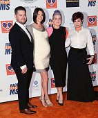 TV personality Jack Osbourne wife Lisa Osbourne sister TV personality Kelly Osbourne and mother TV personality Sharon Osbourne attend the 22nd Annual...