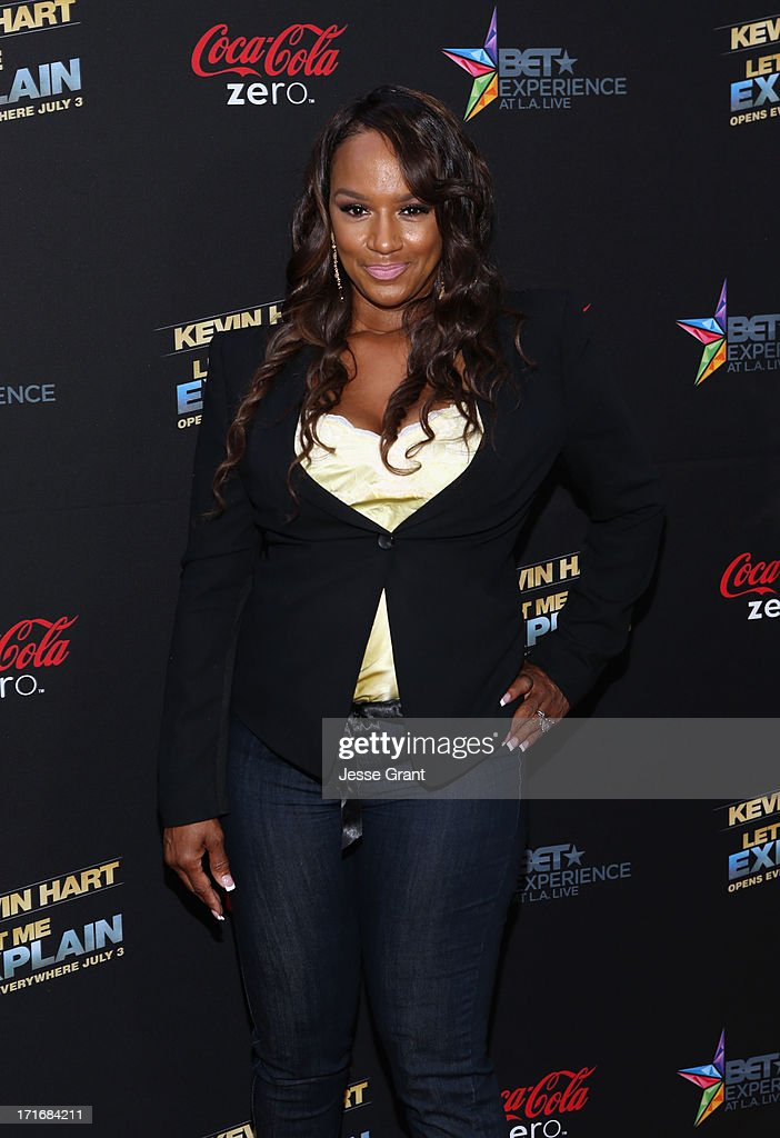 TV personality Jackie Christie attends Movie Premiere 'Let Me Explain' with Kevin Hart during the 2013 BET Experience at Regal Cinemas L.A. Live on June 27, 2013 in Los Angeles, California.