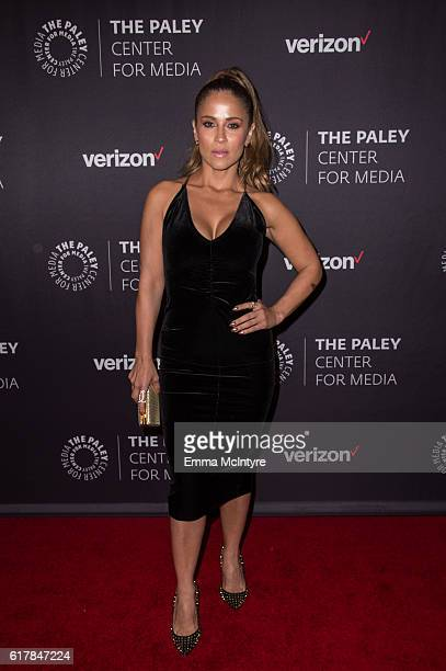 TV personality Jackie Guerrido arrives at The Paley Center for Media's Hollywood Tribute to Hispanic Achievements in Television event at the Beverly...