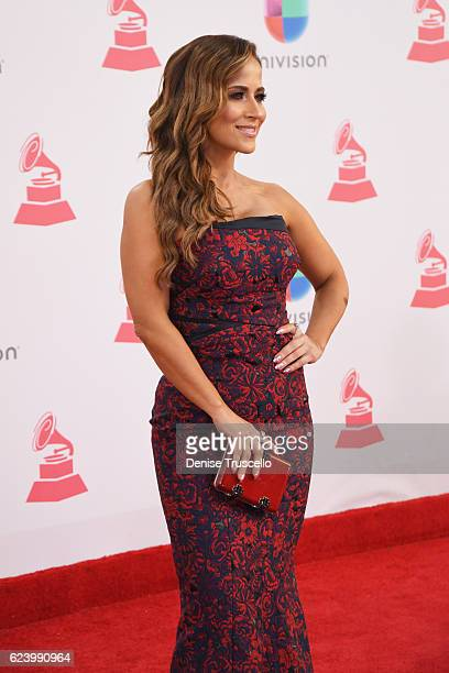 TV personality Jackie Guerrido attends The 17th Annual Latin Grammy Awards at TMobile Arena on November 17 2016 in Las Vegas Nevada