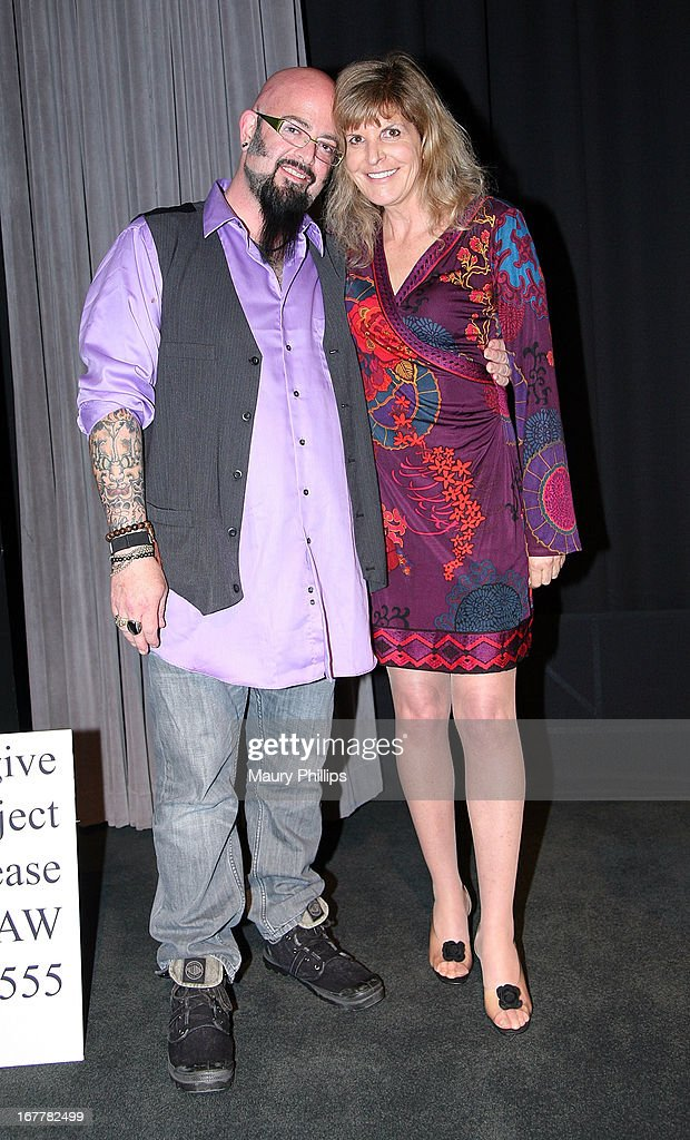 TV personality Jackson Galaxy and Jennifer Conrad attend The Paw Project Premiere on April 29, 2013 in West Hollywood, California.