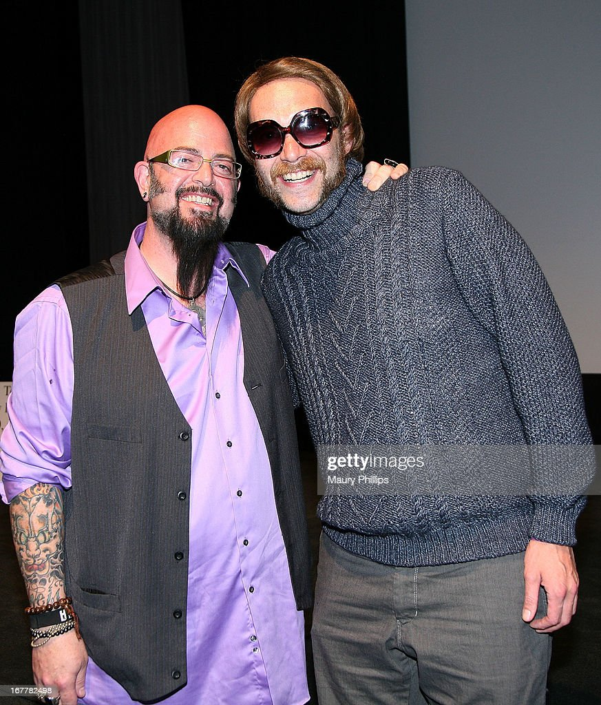 TV personality Jackson Galaxy and Randall Conrad attend The Paw Project Premiere on April 29, 2013 in West Hollywood, California.