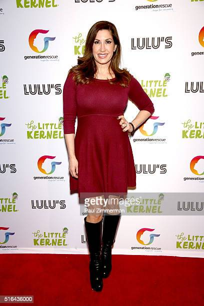 TV personality Jacqueline Laurita attends the Chris Laurita Celebrates Launch of 'The Little Kernel' Mini Popcorn on March 18 2016 in Hoboken New...