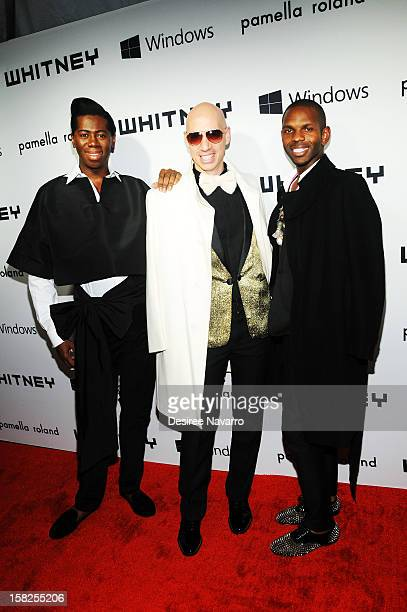 TV Personality JAlexander Robert Verdi and guest attend the 2012 Whitney Gala at The Whitney Museum of American Art on December 11 2012 in New York...
