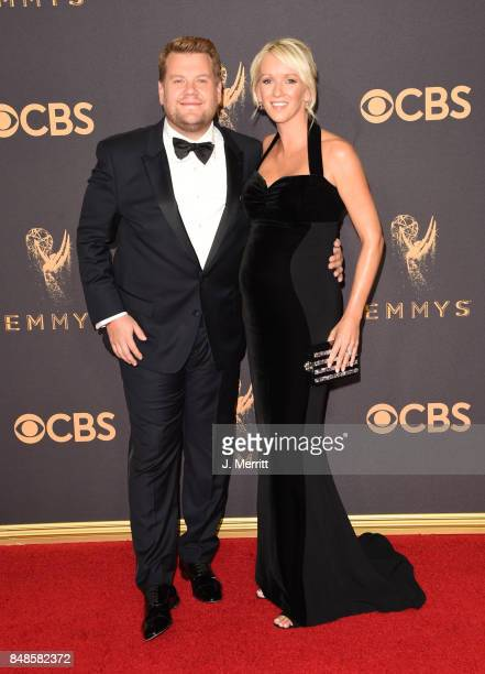 TV personality James Corden and Julia Carey attend the 69th Annual Primetime Emmy Awards at Microsoft Theater on September 17 2017 in Los Angeles...