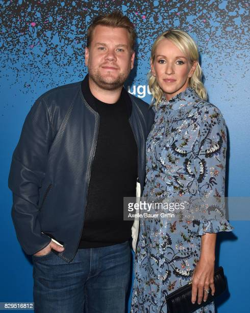 TV personality James Corden and wife Julia Carey arrive at 'Carpool Karaoke The Series' On Apple Music Launch Party at Chateau Marmont on August 7...