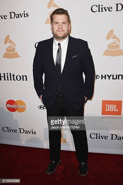 TV personality James Corden attends the 2016 PreGRAMMY Gala and Salute to Industry Icons honoring Irving Azoff at The Beverly Hilton Hotel on...