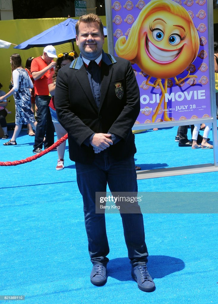 TV personality James Corden attends the premiere of Columbia Pictures and Sony Pictures Animations' The Emoji Movie' at Regency Village Theatre on July 23, 2017 in Westwood, California.