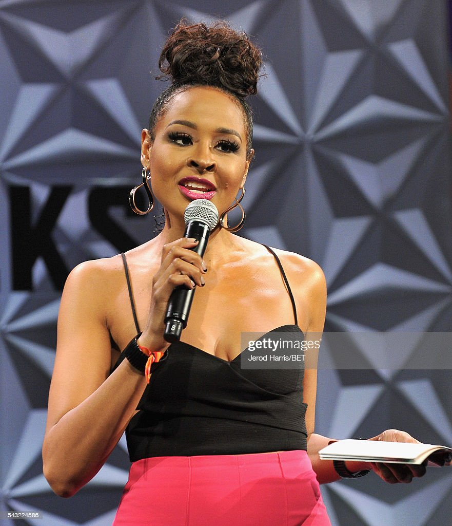 TV personality Janell Snowden speaks during the 2016 BET Experience at Los Angeles Convention Center on June 26, 2016 in Los Angeles, California.