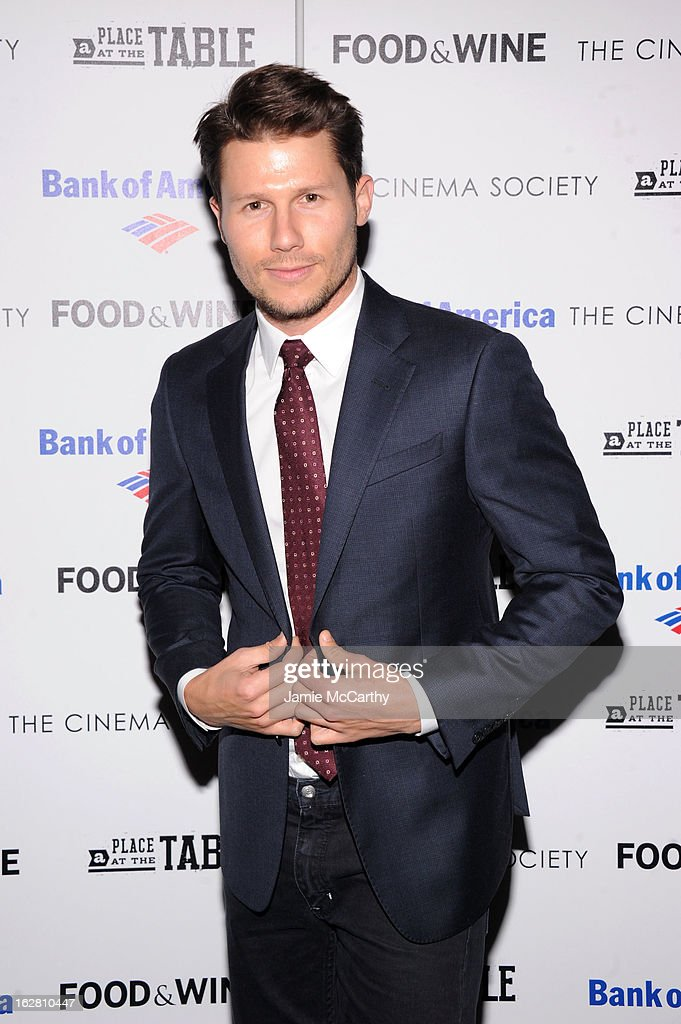TV personality Jason Dundas attends the Bank of America and Food & Wine with The Cinema Society screening of 'A Place at the Table' at Museum of Modern Art on February 27, 2013 in New York City.