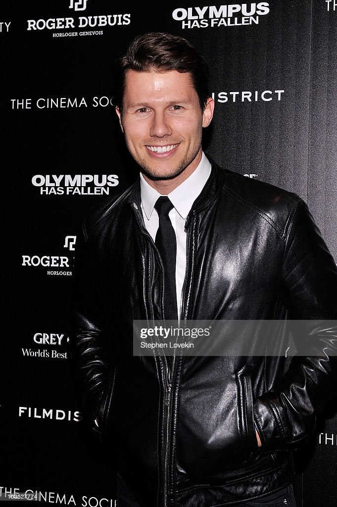 TV personality Jason Dundas attends The Cinema Society with Roger Dubuis and Grey Goose screening of FilmDistrict's 'Olympus Has Fallen' at Tribeca Grand Hotel on March 11, 2013 in New York City.