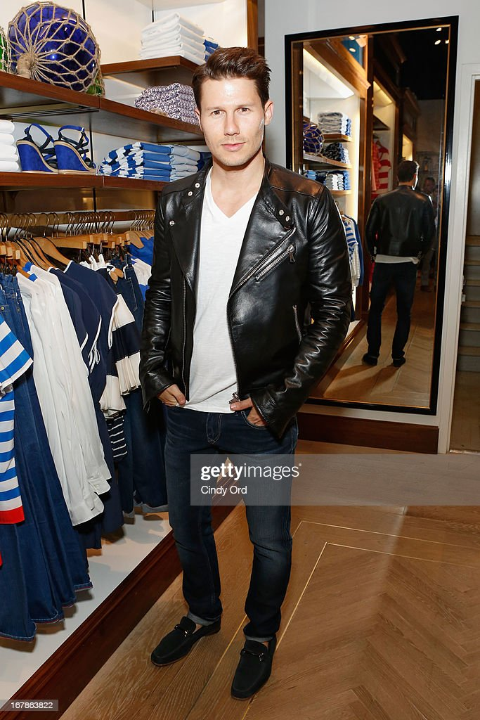 TV personality <a gi-track='captionPersonalityLinkClicked' href=/galleries/search?phrase=Jason+Dundas&family=editorial&specificpeople=578396 ng-click='$event.stopPropagation()'>Jason Dundas</a> attends Tommy Hilfiger celebrates redesigned Soho store with event for Fresh Air Fund on May 1, 2013 in New York City.