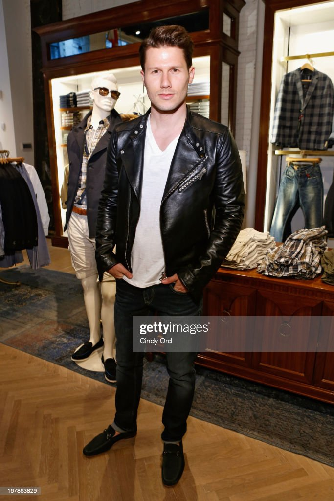 TV personality Jason Dundas attends Tommy Hilfiger celebrates redesigned Soho store with event for Fresh Air Fund on May 1, 2013 in New York City.