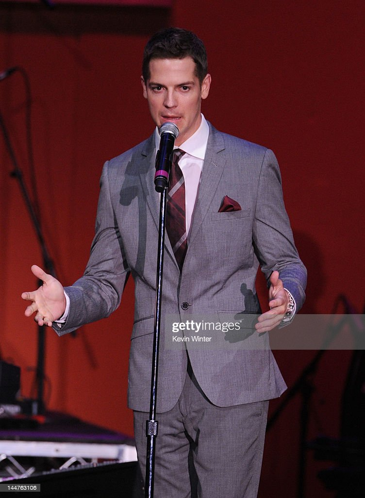 TV personality Jason Kennedy speaks onstage at the 19th Annual Race to Erase MS held at the Hyatt Regency Century Plaza on May 18, 2012 in Century City, California