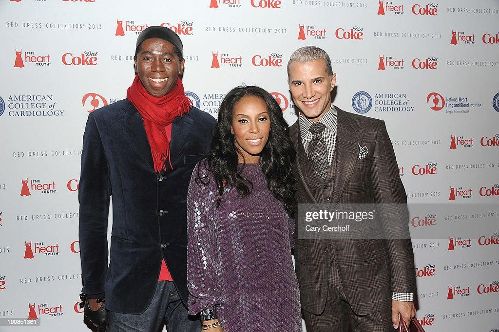 TV personality Jay Alexander, celebrity stylist June Ambrose and make- up artist Jay Manuel attend The Heart Truth's Red Dress Collection during Fall 2013 Mercedes-Benz Fashion Week at Hammerstein Ballroom on February 6, 2013 in New York City.