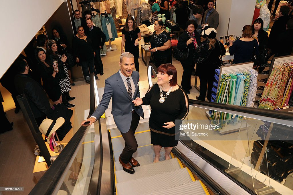 TV personality Jay Manuel and Singer/TV host Carnie Wilson attend Carnie Wilson & Jay Manuel Celebrate Lane Bryant's NYC Flagship on February 28, 2013 in New York City.