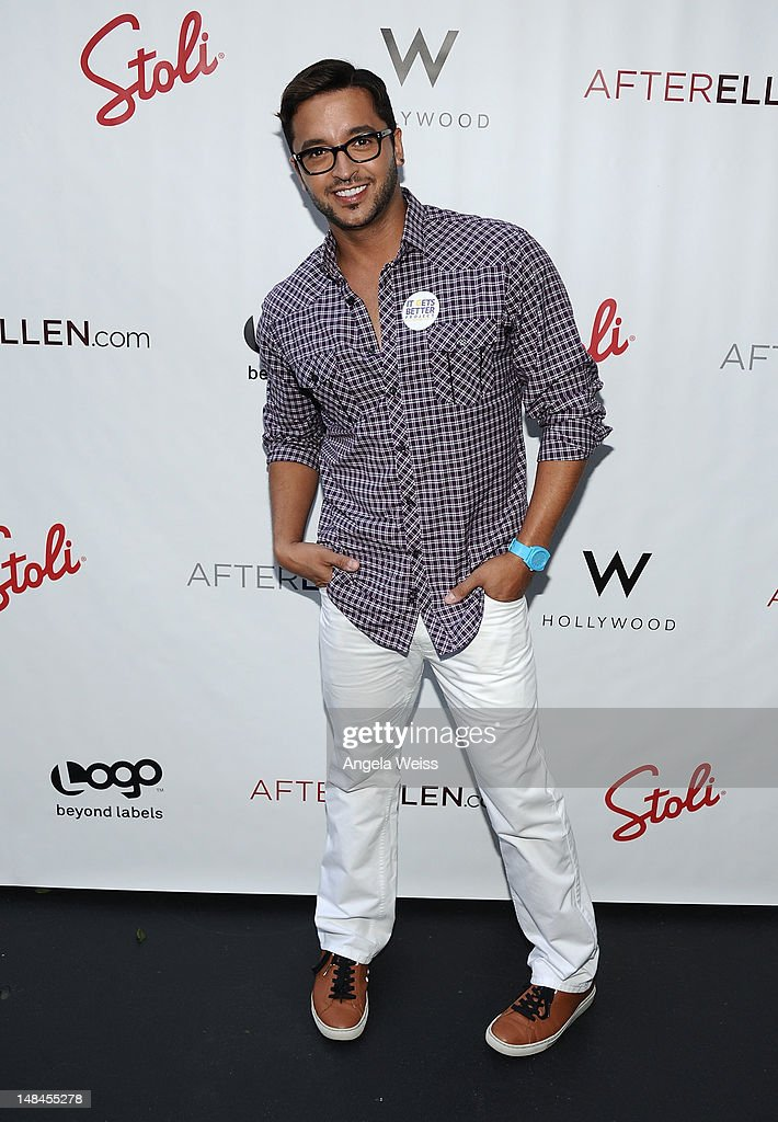 TV personality Jay Rodriguez attends Logo's AfterEllen & AfterElton Inaugural 'Hot 100 Party' at Station Hollywood at W Hollywood Hotel on July 16, 2012 in Hollywood, California.