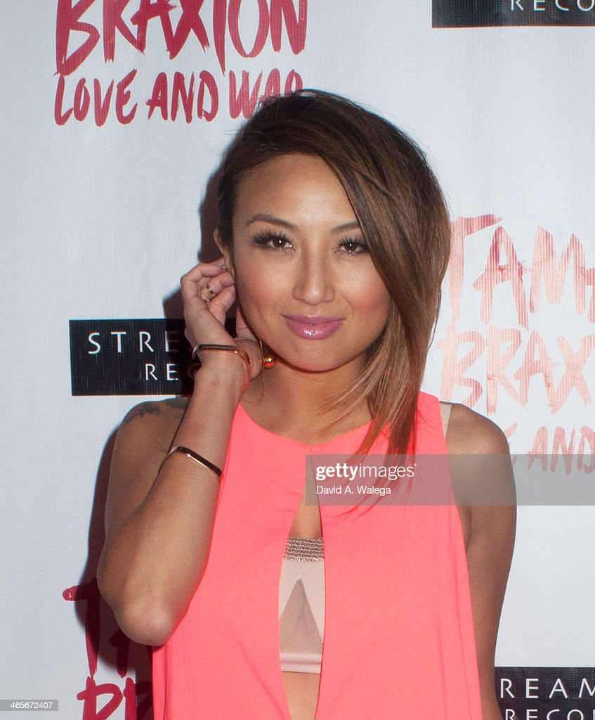 TV personality Jeanie Mai arrives at Xen Lounge for a Night To Celebrate Tamar Braxton's GRAMMY Nominations on January 26, 2014 in Los Angeles, California.