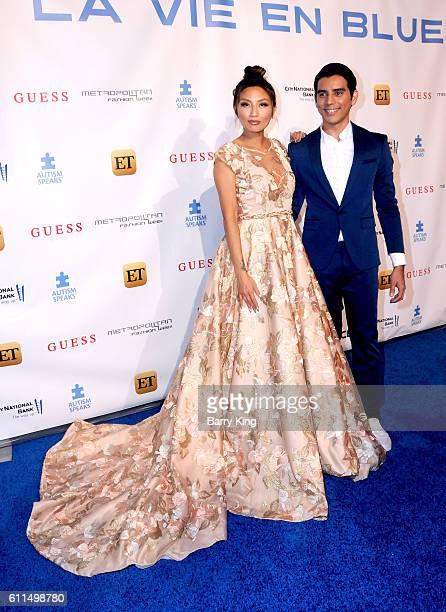 TV personality Jeannie Mai and designer ERick Bendana attend Metropolitan Fashion Week 2016 La Vie En Bleu Signature event benefiting Autism Speaks...