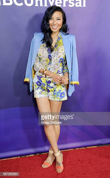 TV personality Jeannie Mai arrives at the 2013 NBC Summer Press Day at The Langham Huntington Hotel and Spa on April 22 2013 in Pasadena California