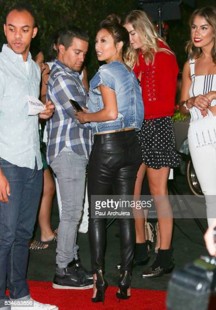 Personality Jeannie Mai attends the PrettyLittleThing X launch at Liaison Lounge on August 17 2017 in Los Angeles California