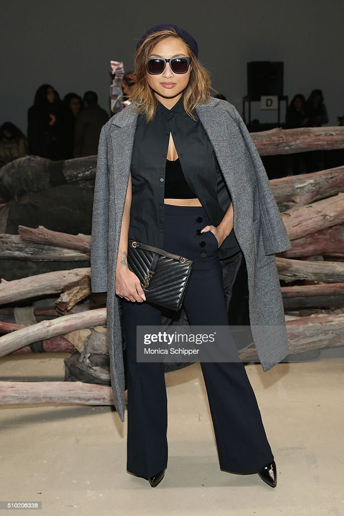 TV personality <a gi-track='captionPersonalityLinkClicked' href=/galleries/search?phrase=Jeannie+Mai&family=editorial&specificpeople=5848549 ng-click='$event.stopPropagation()'>Jeannie Mai</a> attends the Public School Fall 2016 fashion show during New York Fashion Week on February 14, 2016 in New York City.