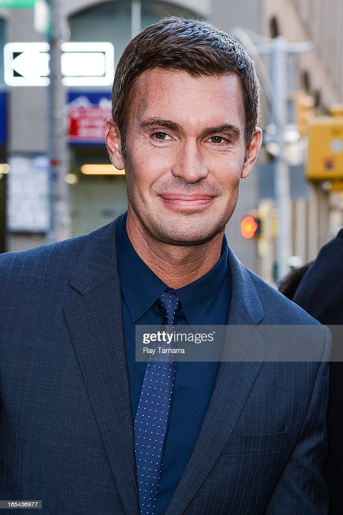TV personality Jeff Lewis leaves his Soho hotel on April 3, 2013 in New York City.