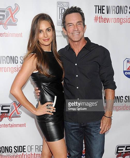 TV personality Jeff Probst and wife Lisa Ann Russell arrive at the premiere of ESX Productions' 'The Wrong Side Of Right' at TCL Chinese Theatre on...