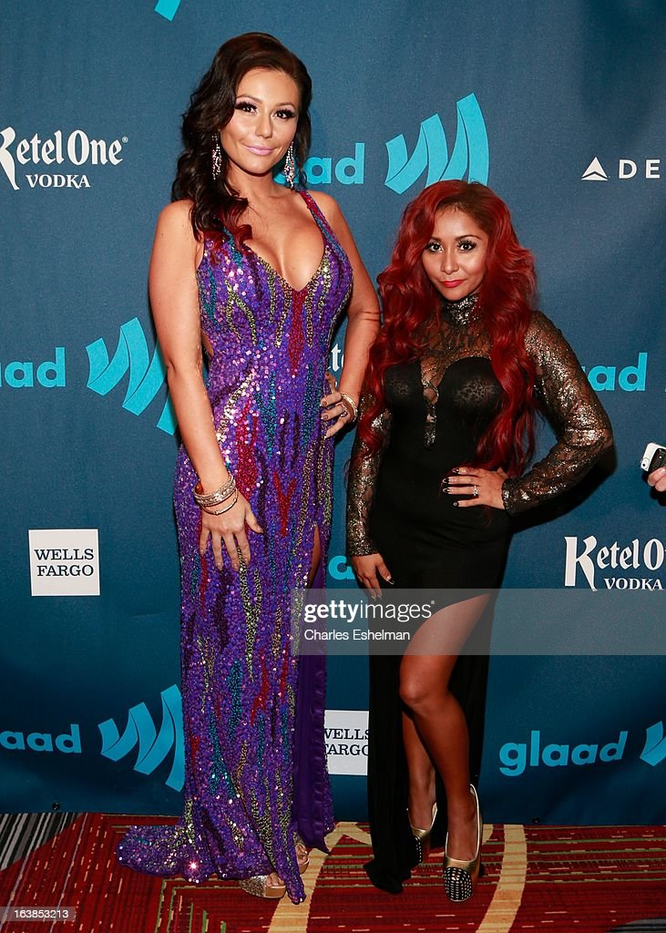 TV personality Jenni Farley attends the 24th annual GLAAD Media awards at The New York Marriott Marquis on March 16, 2013 in New York City.
